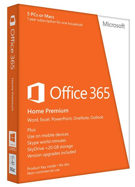 Программное обеспечение Microsoft Office 365 Home Premium 32/64bit Russian Subscr 1Year Medialess  (6GQ-00177)