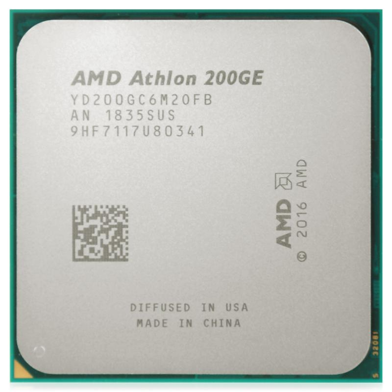Процессор AMD Athlon 200GE (Dual-Core) 3200MHz (YD200GC6M2OFB (12*)), AM4, L2: 1Mb, Raven Ridge, 35W, GPU: AMD Radeon Vega 3, Tray